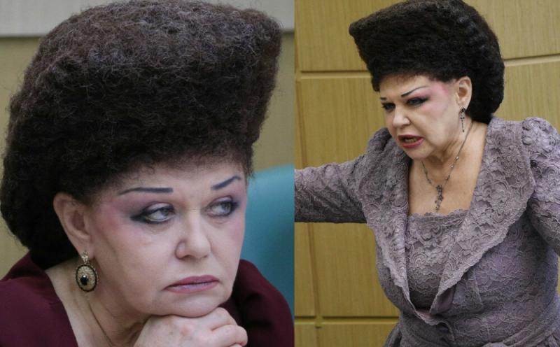 Как делает свою необычную прическу политик Валентина Петренко, и как она выглядела в молодости